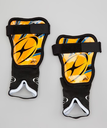 Orange & Royal Blue XG1 LI Shin Guards