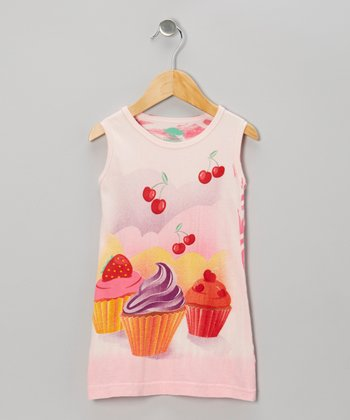 Pink Cupcake Organic Dress - Toddler & Girls