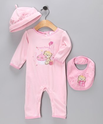 Pink 'Happy Birthday' Party Bear Set