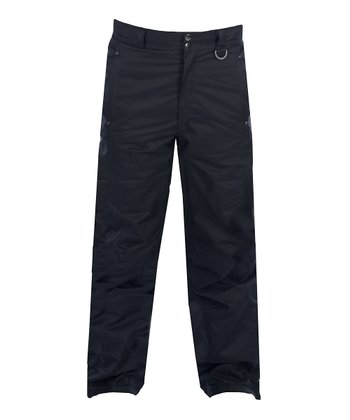 Black Insulated Cargo Ski Pants - Women