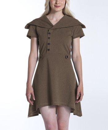 lur® Camel Sweet Pea Sidetail Dress - Women