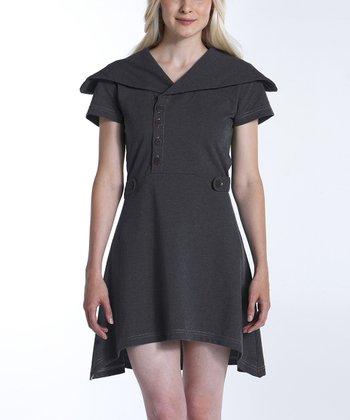 lur® Charcoal Sweet Pea Sidetail Dress - Women