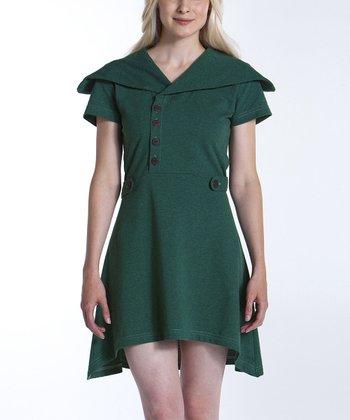 lur® Moss Sweet Pea Sidetail Dress - Women