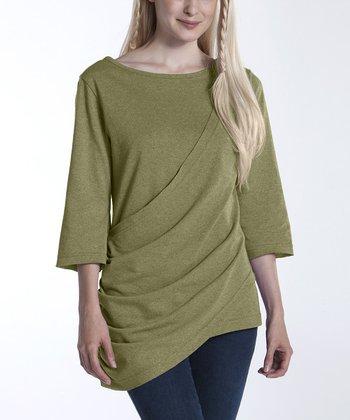 lur® Olive Waterfall Tunic - Women