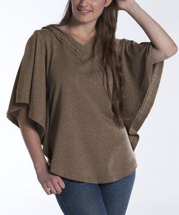 lur® Camel Dahlia Cape-Sleeve Top - Women