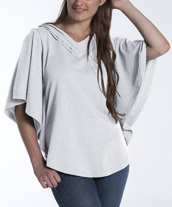 lur® Cloud Dahlia Cape-Sleeve Top - Women