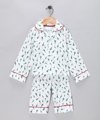 White Christmas Tree Sleep Top & Pants - Infant, Toddler & Boys