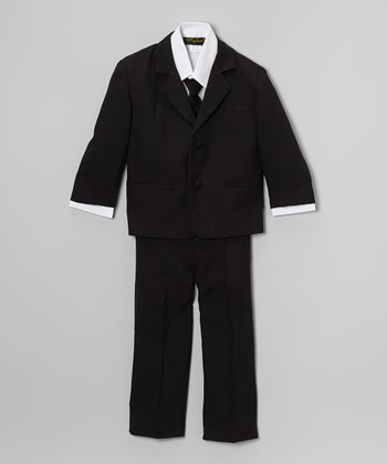 Black & White Five-Piece Suit - Infant, Toddler & Boys