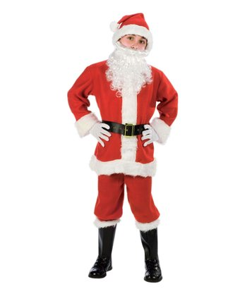 Red & White Santa Costume - Kids