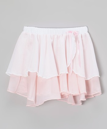 Light Pink Two-Tier Skirt - Girls
