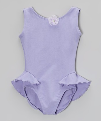 Lilac Marissa Flutter Leotard - Toddler & Girls