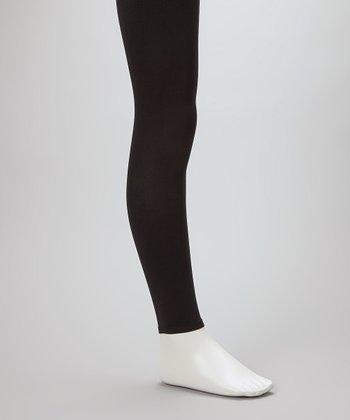 Black Footless Tights - Girls
