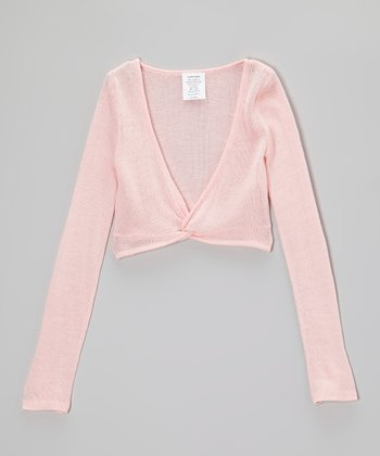 Pink Pullover Crop Sweater - Girls