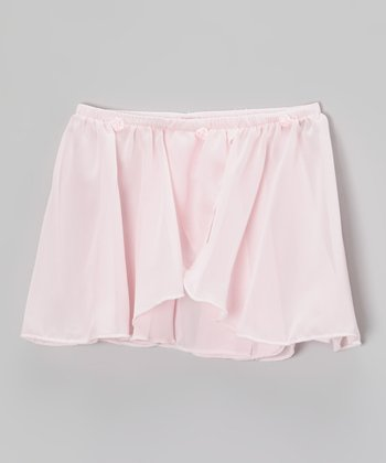 Pink Rosette Mock Wrap Skirt - Toddler & Girls