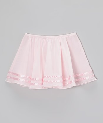Pink Ribbon Stripe Skirt - Toddler & Girls