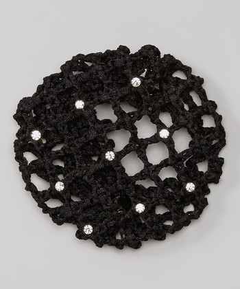 Black Rhinestone Bun Cover