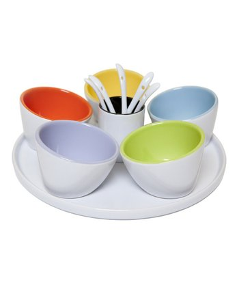 Contemporary Dip Bowl & Tray Set