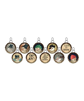 Winter Bottle Cap Charm Set