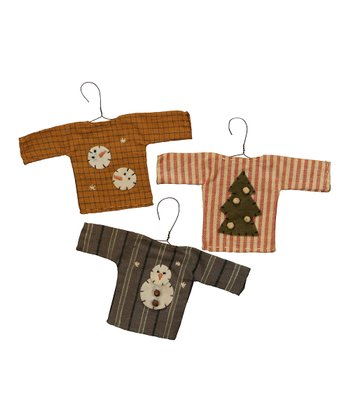 Winter Shirt Ornament Set