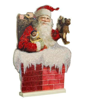 Santa & Chimney Figurine
