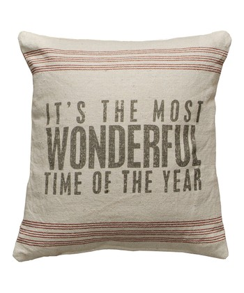 'Most Wonderful Time' Linen Pillow