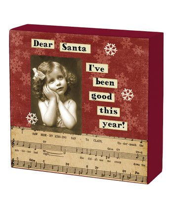 'Dear Santa' Box Sign