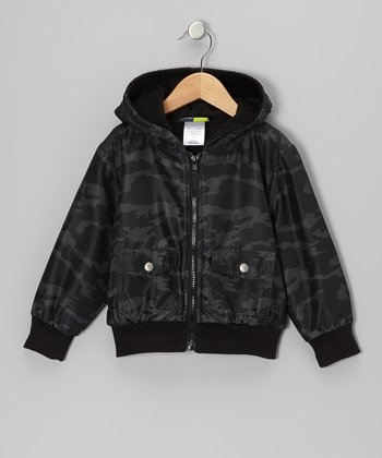 Black Camouflage Hooded Jacket - Infant, Toddler & Boys