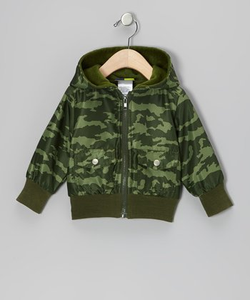 Green Camouflage Hooded Jacket - Infant, Toddler & Boys