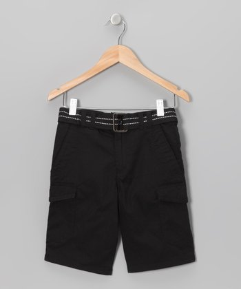 Black Cargo Shorts - Toddler & Boys