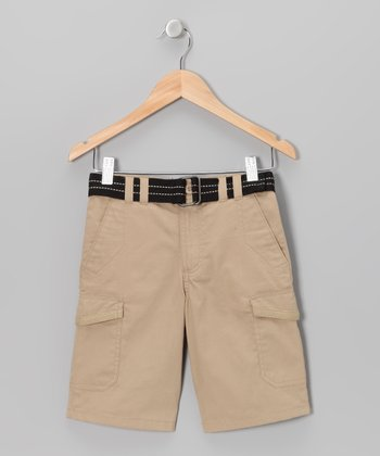 Khaki Cargo Shorts - Toddler & Boys