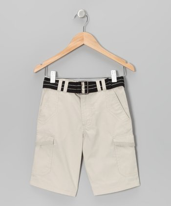 Stone Cargo Shorts - Toddler & Boys