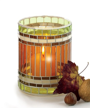 Jardin Mosaic Glass Votive
