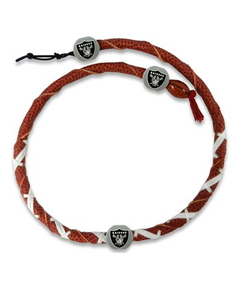 Oakland Raiders Classic Spiral Football Necklace
