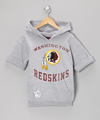 Washington Redskins Short Sleeve Hoodie - Girls