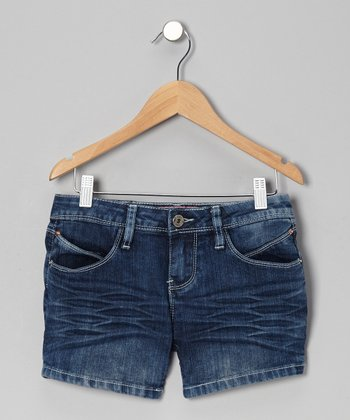 Medium Cloud Wash Denim Shorts