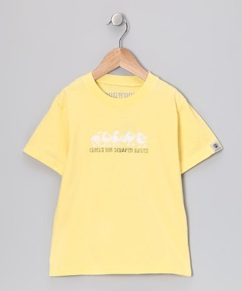 Yellow 'Scraped Knees' Tee - Infant, Toddler & Boys