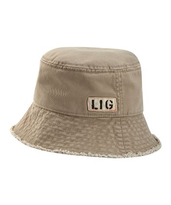 Khaki 'LIG' Bucket Hat - Women