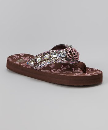 Brown Kelsey Flip-Flop - Kids