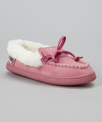 Pink Moccasin Slipper