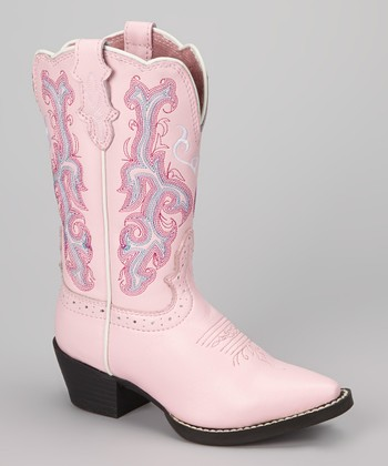 Pink Deercrow Cowboy Boot - Kids
