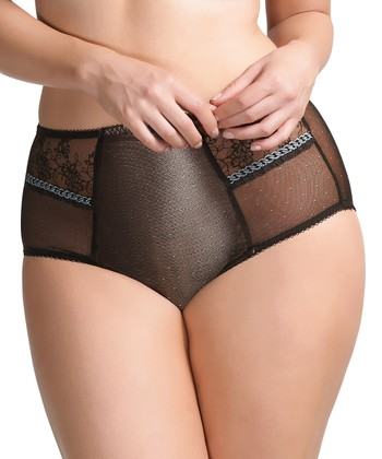 Black Lara High-Waisted Briefs - Women & Plus
