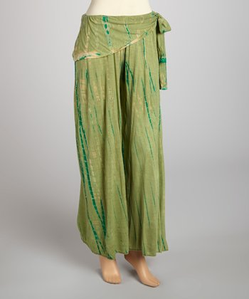 Green Tie-Dye Lounge Pants - Women