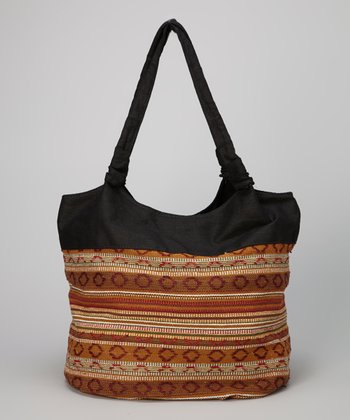 Brown Tribal Weave Tote