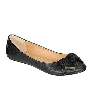 Black Foaming Ballet Flat