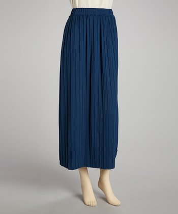 Teal Pleated Skirt - Women