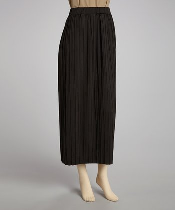 Black Pleated Skirt - Women
