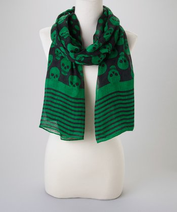 Green & Black Skull Scarf