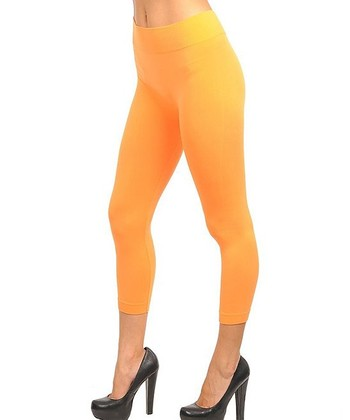 Neon Orange Capri Leggings