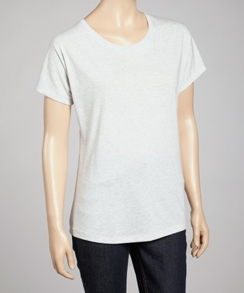 Heather White Short-Sleeve Tee