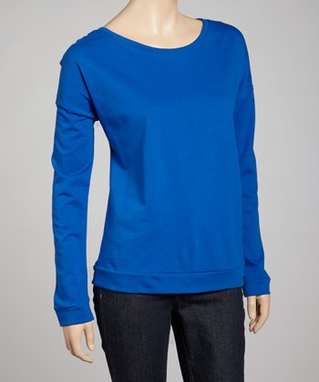 Royal Blue Terry Long-Sleeve Tee